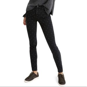 Madewell | Metallic Dot High Rise Skinny Jeans